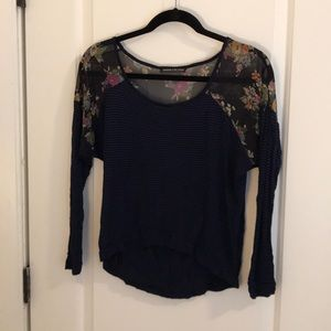 Long Sleeve striped and floral top